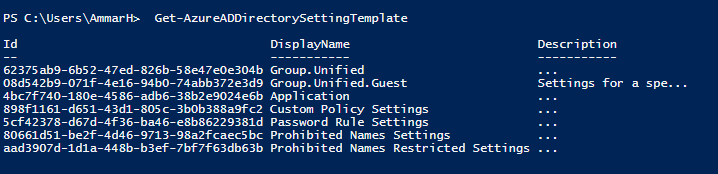 Office 365 Groups Policy Settings 5