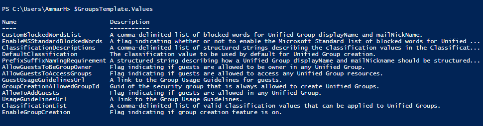 Office 365 Groups Policy Settings 7