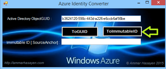 Azure AD GUID to Azure AD ImmutableID converter 5
