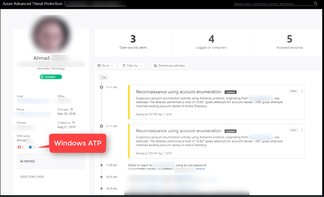 Azure ATP and Windows defender ATP integration 7