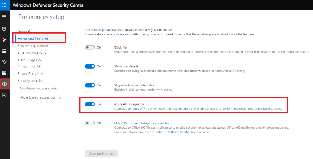 Azure ATP and Windows defender ATP integration 3