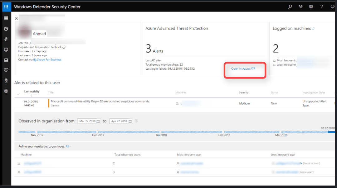 Azure ATP and Windows defender ATP integration 8