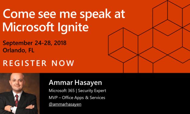 Come see me speak at Microsoft Ignite in Orlando