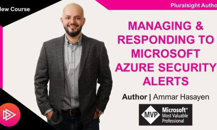My Pluralsight Course – Managing Azure Security Alerts