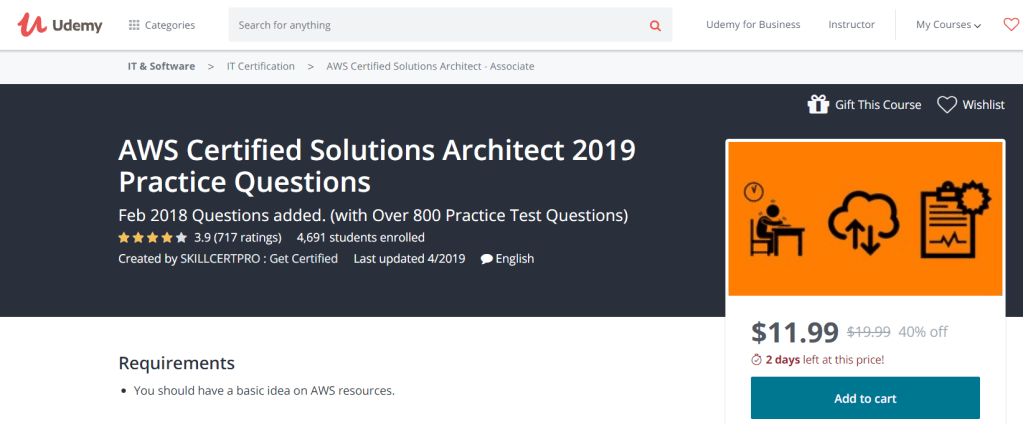 AWS Solutions Architect Associate Exam 2