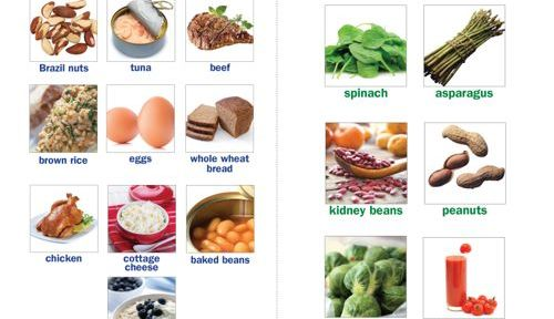 What Foods have Folate? Which have Selenium?
