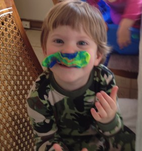 x playdoh mustache
