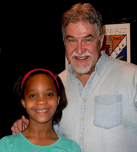 Airlift Productions Proprietor Micheal Ziants along with the youngest Best Actress Nominee in the history of the Academy Awards - Quvenzhane Wallis - at the Airlift Studios 2014