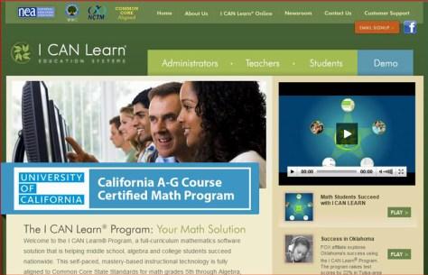 ICanLearnWebsiteWelcomeScreenshot
