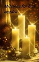 Foto: 4 brennende Kerzen