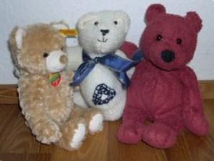 Foto mit drei Teddys