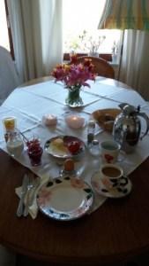 Foto von einem gedeckten Tisch