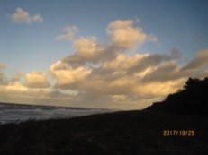Foto, Strand Wolken