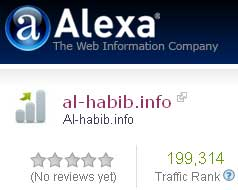 Today, Alhabib Website Ranking Hits below 200,000