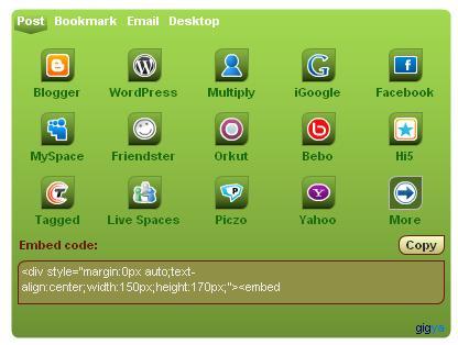 Layar Penyisipan Widget Otomatis ke dalam Blog