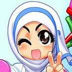 Manga-style Islamic Greeting Card