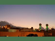 Crescent moon for Muharram 1436 seen in Saudi Arabia on the evening of Saturday, 25 October 2014.