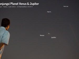 Foto Konjungsi Venus – Jupiter 2015