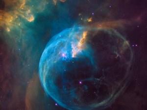 Nebula Gelembung yang indah dan lebih luas daripada Tata Surya kita dipotret oleh teleskop antariksa Hubble pada ulang tahun yang ke-26-nya.