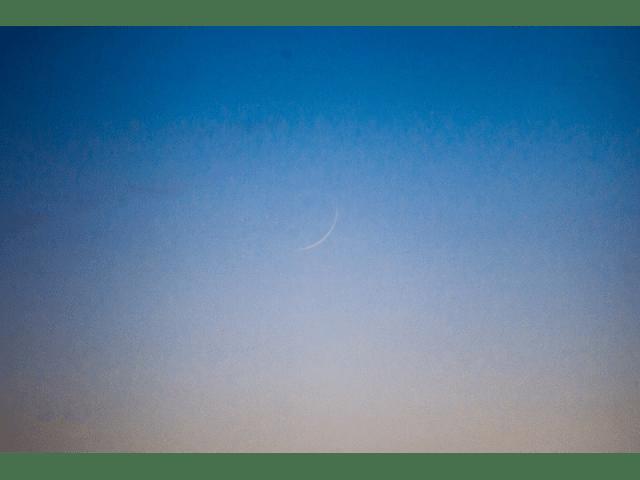 Hilal Sya'ban 1437 H terlihat kasat mata di Aljazair pada petang hari Sabtu, 7 Mei 2016.