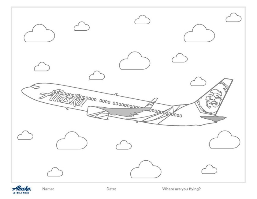 6 alaska airlines coloring pages you can color at home