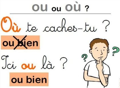 How different is ou from où?