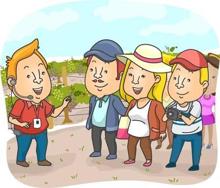 Guide touristique qui parle une langue étrangère