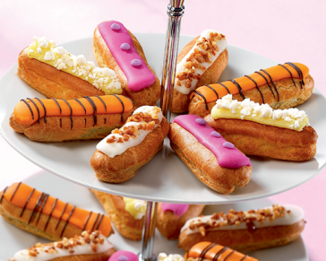 Eclairs in French gastronomy.