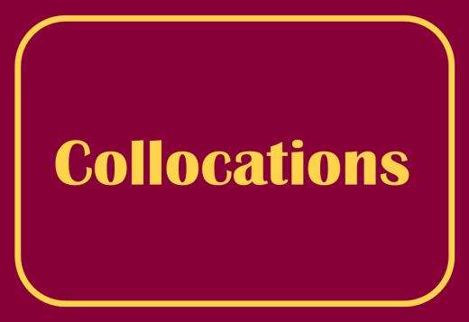 English collocations
