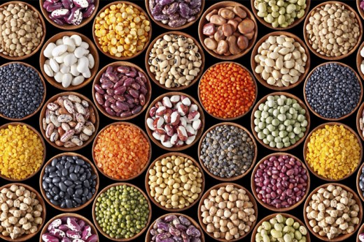 pulses and cereals in English