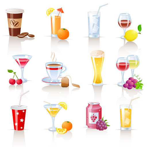 Beverages and drinks in French