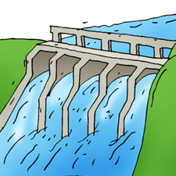 Barriers to keep back dam water