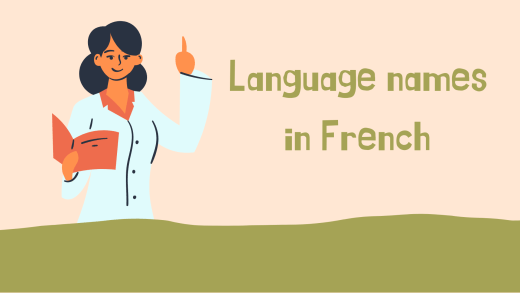 names of languages in French