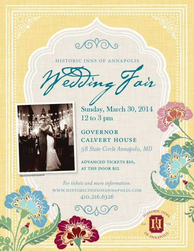 Historic Inns of Annapolis Wedding Fair Flyer