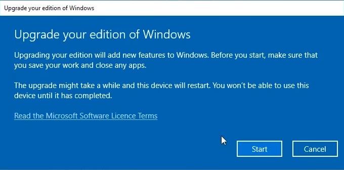How to upgrade Windows 10 Home to Windows 10 Pro - Start
