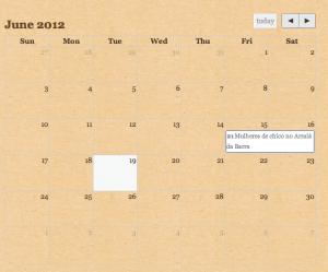 A calendar view