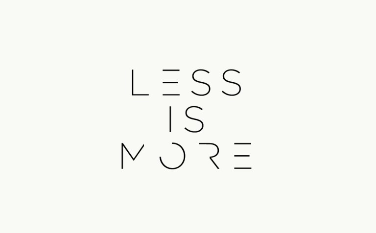 Less is more - How to Create Great Designs & User Experience with Less