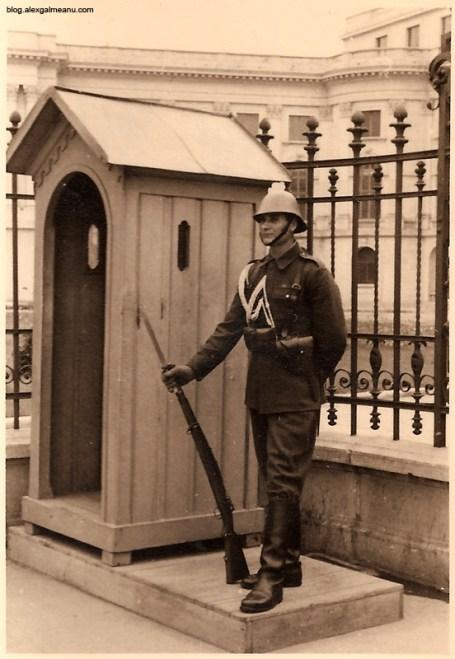Soldat din garda regala aflat in timpul serviciului.