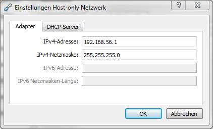 VirtualBox Virtual Network Settings