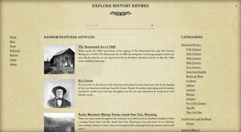 History Rhymes Gets a Refreshed Design