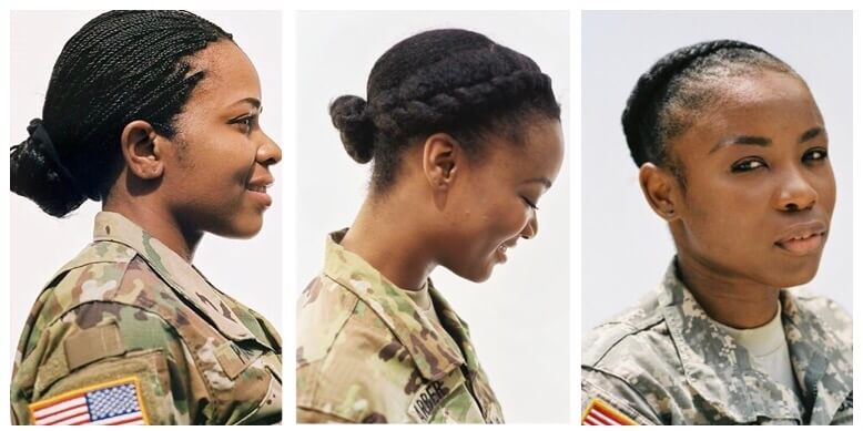 Authorized Hairstyles Women Army Natural Hairstyles For