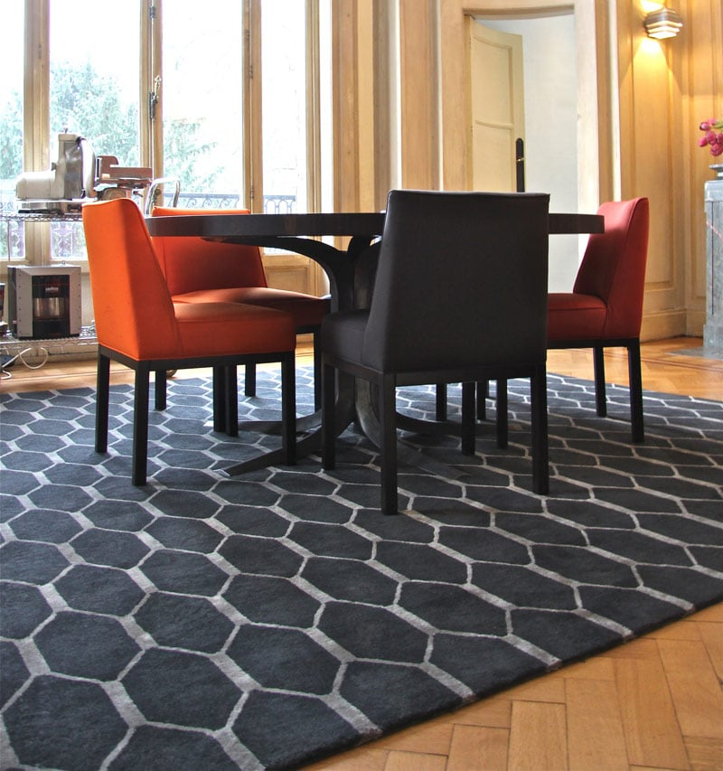 focus sur le tapis de salle manger blog allotapis. Black Bedroom Furniture Sets. Home Design Ideas