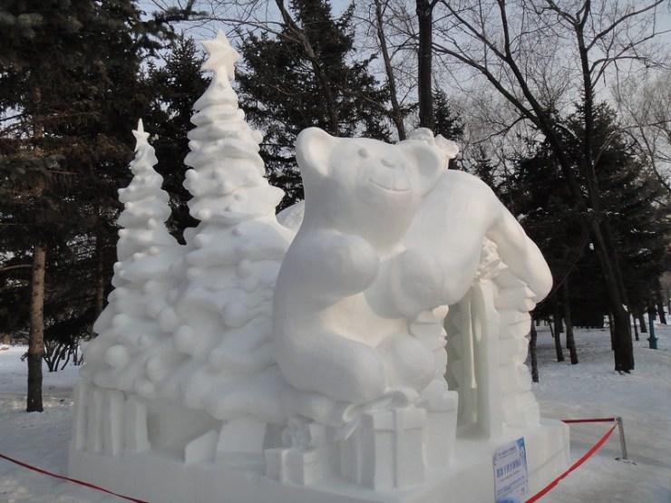 세계 3대 겨울축제 하얼빈 국제 빙설제 자오린 공원 빙등제