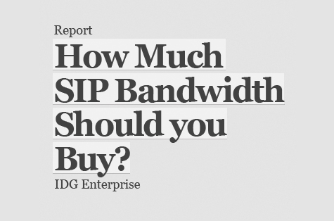 SIP Trunking Bandwidth: Too Much or Not Enough?