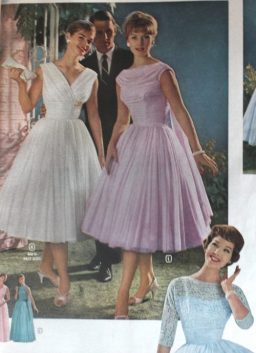 prom dresses from the early 60s