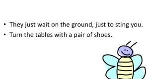 Don't walk barefoot
