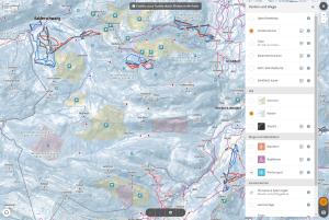 Kartenansicht mit Schutzgebieten und Lenkungsmaßnahmen