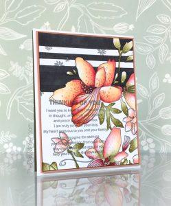 beautiful floral handmade sympathy card