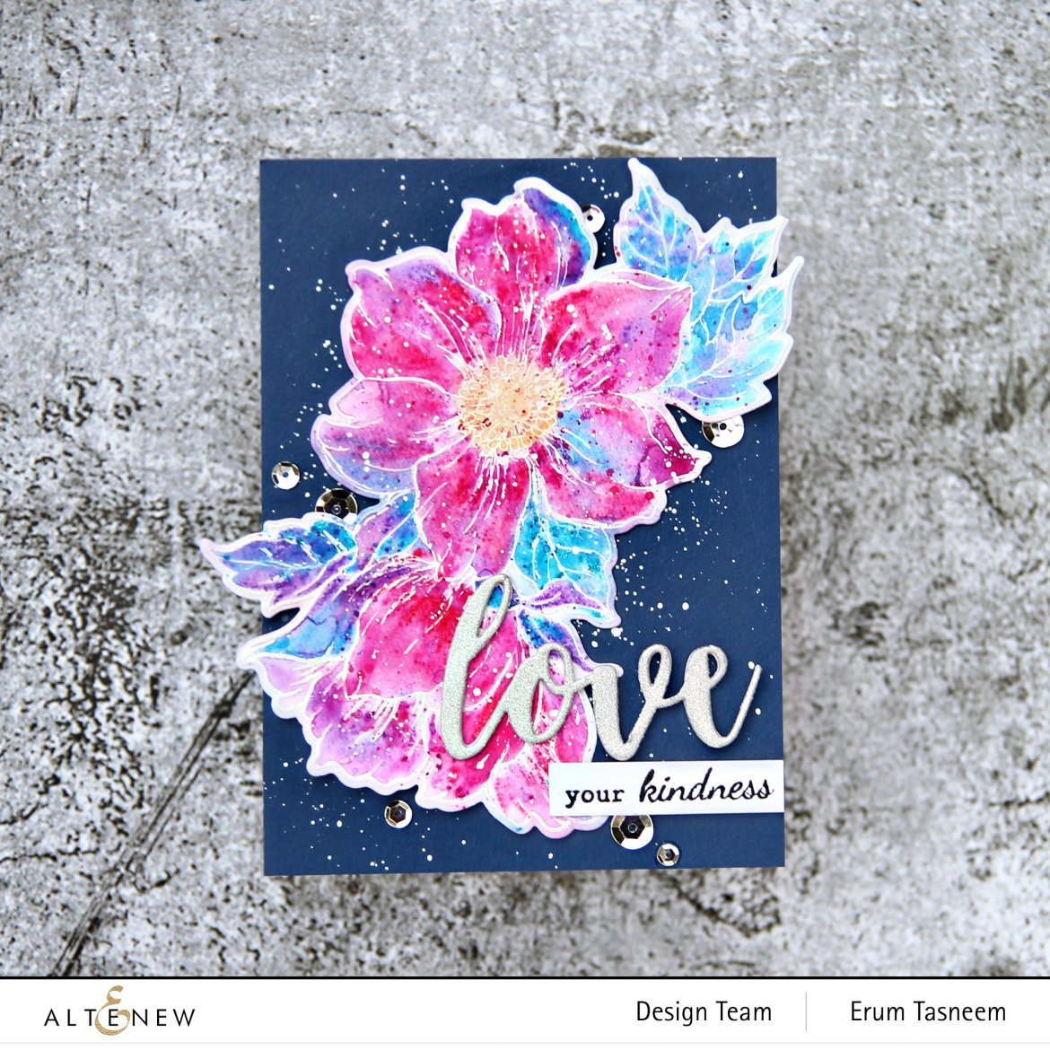 Altenew Woodless Watercolor Pencils and Statement Flowers Stamp Set | Erum Tasneem | @pr0digy0