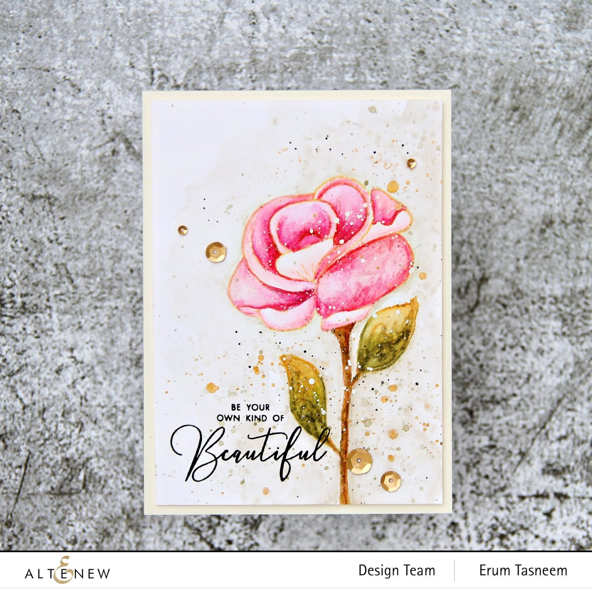 Altenew Woodless Watercolor Pencils and Simple Rose Stamp Set | Erum Tasneem | @pr0digy0